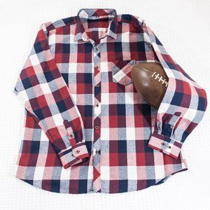 Other - Red White & Blue Plaid Button Down